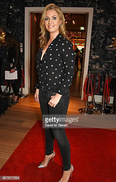 Hayley McQueen attends a special screening of 'Concussion' hosted by Will Smith Susanna Reid and Brian Moore at The Ham Yard Hotel on January 28 2016...