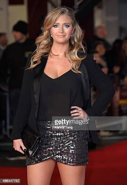 Hayley McQueen attends the World Premiere of 'Ronaldo' at Vue West End on November 9 2015 in London England