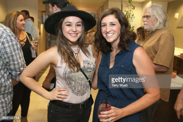 Hayley Orrantia and Christie Hill attend APA Nashville's open house at One Nashville Place on June 6 2017 in Nashville Tennessee