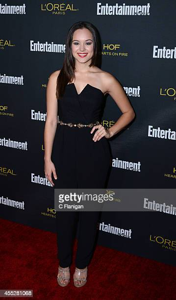 Hayley Orrantia attends the 2014 Entertainment Weekly PreEmmy Party at Fig Olive Melrose Place on August 23 2014 in West Hollywood California