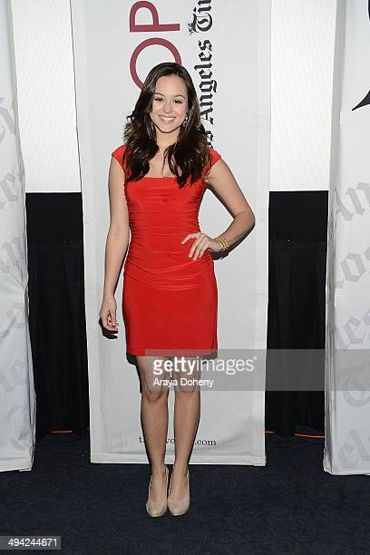 Hayley Orrantia attends the Los Angeles Times' The Envelope Screening Series Presents 'The Goldbergs' at ArcLight Sherman Oaks on May 28 2014 in...