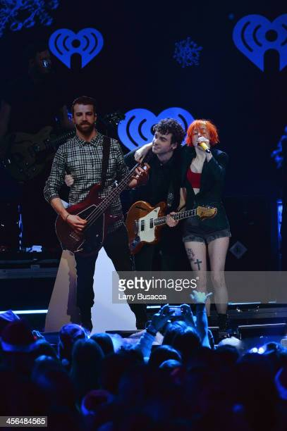 Hayley perform onstage at Z100's Jingle Ball 2013 presented by Aeropostale at Madison Square Garden on December 13 2013 in New York City