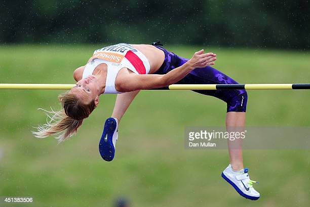 Hayley Pitman competes in the Women's High Jump Final during day two of the Sainsbury's British Championships at Birmingham Alexander Stadium on June...