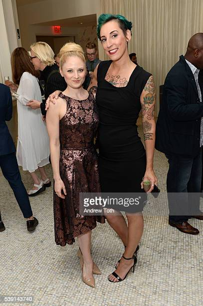 Hayley Podschun and Erin Acker attend Macy's and Broadway Style Guide welcome today's hottest broadway stars for an evening of men's style hosted by...