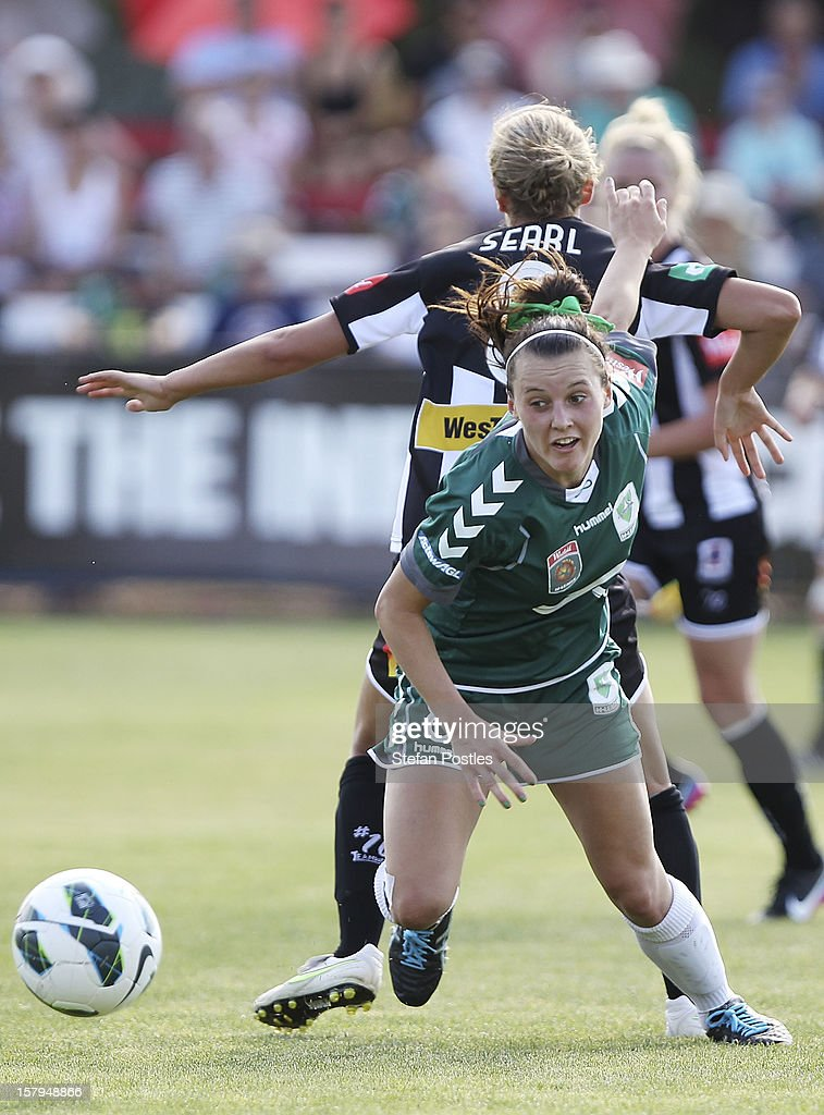 Hayley Raso of Canberra United in action during the round eight W-League match between Canberra United and the Newcastle Jets at Deakin Football Stadium on December 8, 2012 in Canberra, Australia.