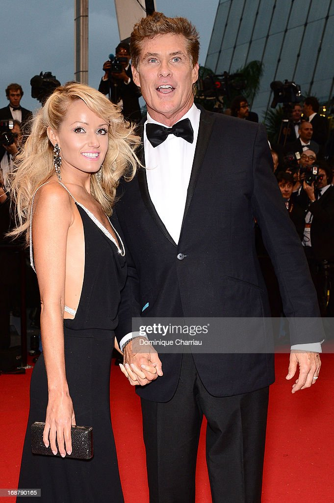 Hayley Roberts and David Hasselhoff attend the Opening Ceremony and premiere of 'The Great Gatsby' during the 66th Annual Cannes Film Festival at Palais des Festivals on May 15, 2013 in Cannes, France.