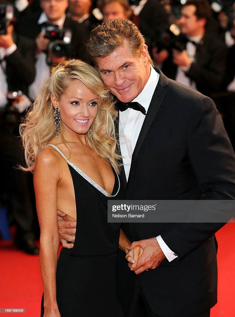 Hayley Roberts (L) and David Hasselhoff attend the Opening Ceremony and premiere of 'The Great Gatsby' during the 66th Annual Cannes Film Festival at Palais des Festivals on May 15, 2013 in Cannes, France.