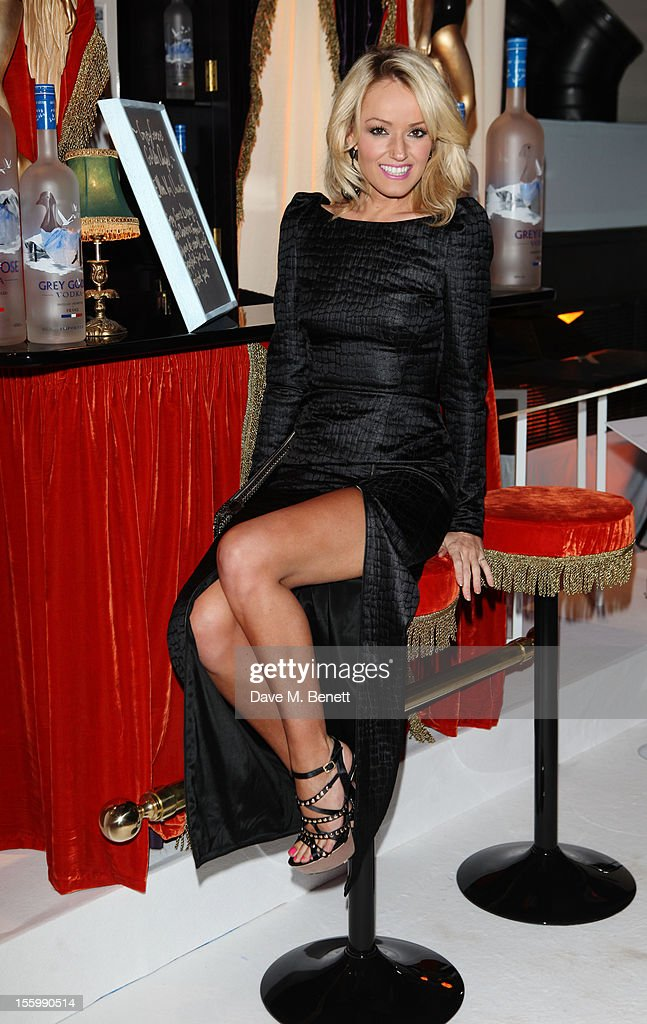 Hayley Roberts arrives at the Grey Goose Winter Ball at Battersea Power Station on November 10, 2012 in London, England.