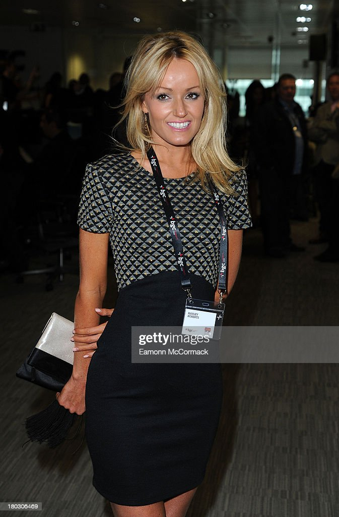 Hayley Roberts attends the BGC Partners charity day at Canary Wharf on September 11, 2013 in London, England.