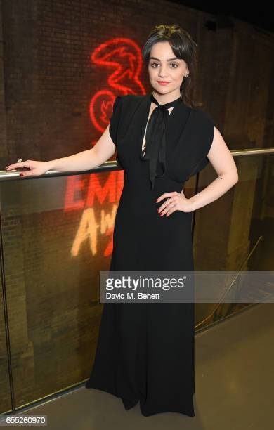 Hayley Squires poses in the winners room at the THREE Empire awards at The Roundhouse on March 19 2017 in London England