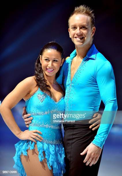 Hayley Tamaddon and Dan Whiston attend a photocall for Torvill Dean's 'Dancing On Ice' tour 2010 at MEN Arena on April 22 2010 in Manchester England