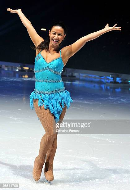 Hayley Tamaddon attends a photocall for Torvill Dean's 'Dancing On Ice' tour 2010 at MEN Arena on April 22 2010 in Manchester England