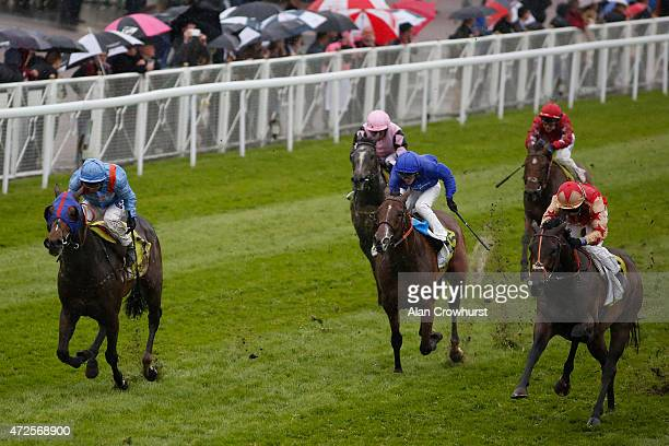 Hayley Turner riding Roudee win The Crabbie's EBF Stallions Handicap Stakes at Chester racecourse on May 08 2015 in Chester England