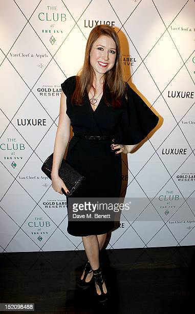 Hayley Westenra arrives at the Fearless Party with LUXURE Magazine at The Club at The Ivy on September 16 2012 in London England