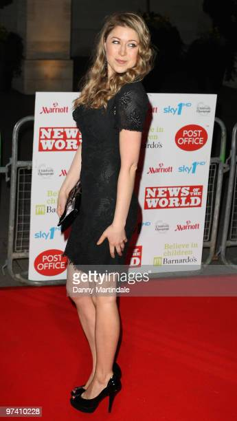 Hayley Westenra attends the Children's Champions 2010 awards at The Grosvenor House Hotel on March 3 2010 in London England