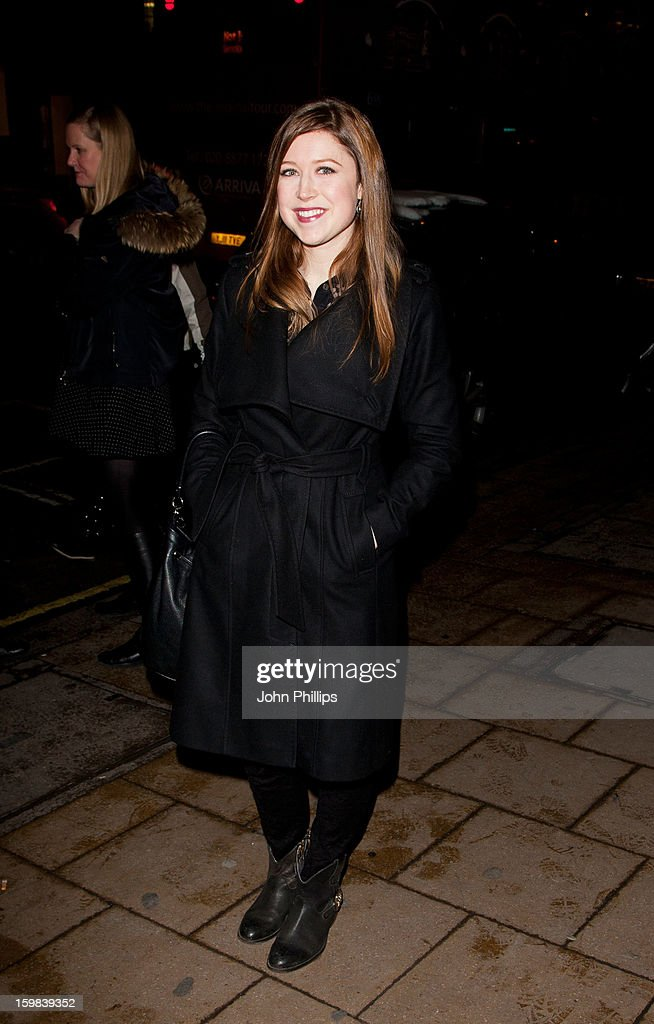Hayley Westenra attends the VIP screening of 'Love in Portofino' on January 21, 2013 in London, England.
