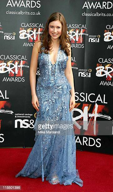 Hayley Westenra during 2004 Classical BRIT Awards Arrivals at Royal Albert Hall in London Great Britain