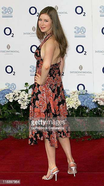 Hayley Westenra during 30th Anniversary NordoffRobbins O2 Silver Clef Lunch Arrivals at Inter Continental Hotel in London Great Britain