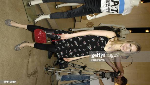Hayley Westenra during PETA's Humanitarian Awards – Inside at Stella McCartney Store in London Great Britain