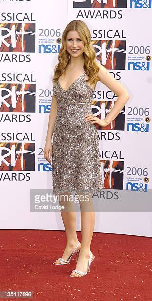 Hayley Westenra during The Classical Brit Awards 2006 Outside Arrivals at Royal Albert Hall in London Great Britain