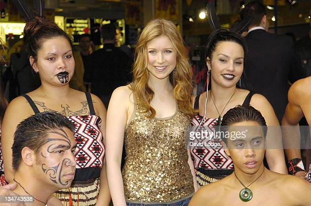 Hayley Westenra with Maori dancers during Hayley Westenra InStore Performance and Album Signing at HMV in London September 27 2005 at HMV in London...
