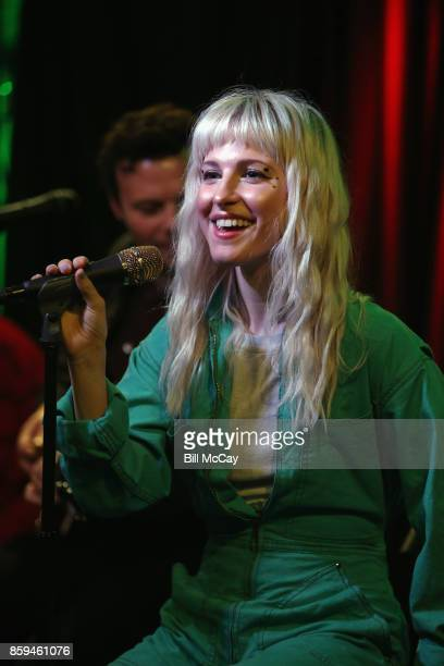 Hayley Williams of Paramore performs at Radio 1045 Performance Theater October 9 2017 in Bala Cynwyd Pennsylvania