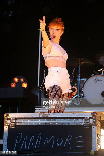 Hayley Williams of Paramore performs during Hangout Music Festival 2015 on May 15 2015 in Gulf Shores Alabama