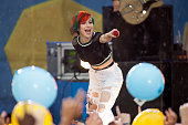 Hayley Williams of Paramore performs on ABC's 'Good Morning America'at Rumsey Playfield on June 13 2014 in New York City