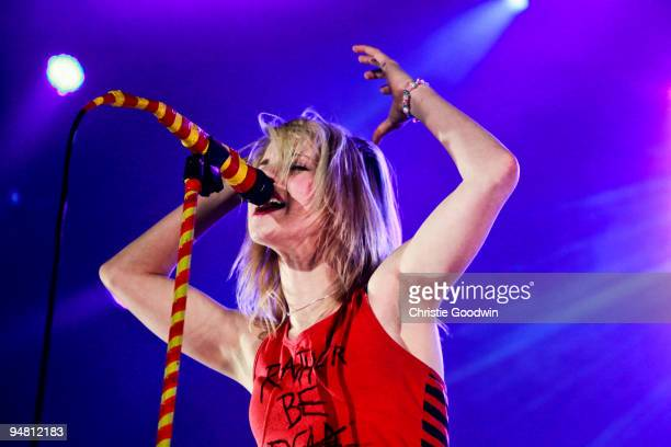 Hayley Williams of Paramore performs on stage at Wembley Arena on December 18 2009 in London England