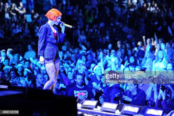 Hayley Williams of the band Paramore performs onstage during Z100's Jingle Ball 2013 presented by Aeropostale at Madison Square Garden on December 13...