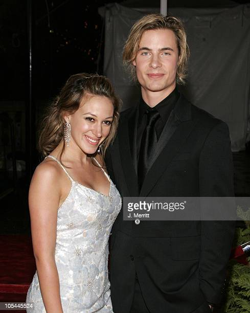 Haylie Duff and Erik Von Detten during 31st Annual People's Choice Awards Arrivals at Pasadena Civic Auditorium in Pasadena California United States