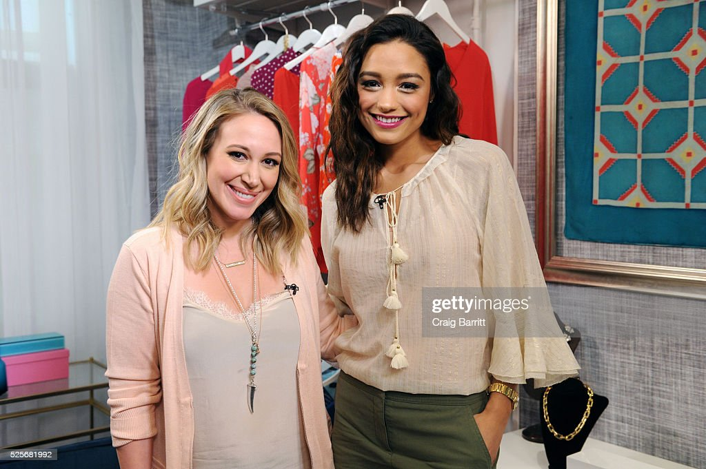 Haylie Duff and Rachel Smith on the set of Amazon's Style Code Live on April 28, 2016 in New York City.
