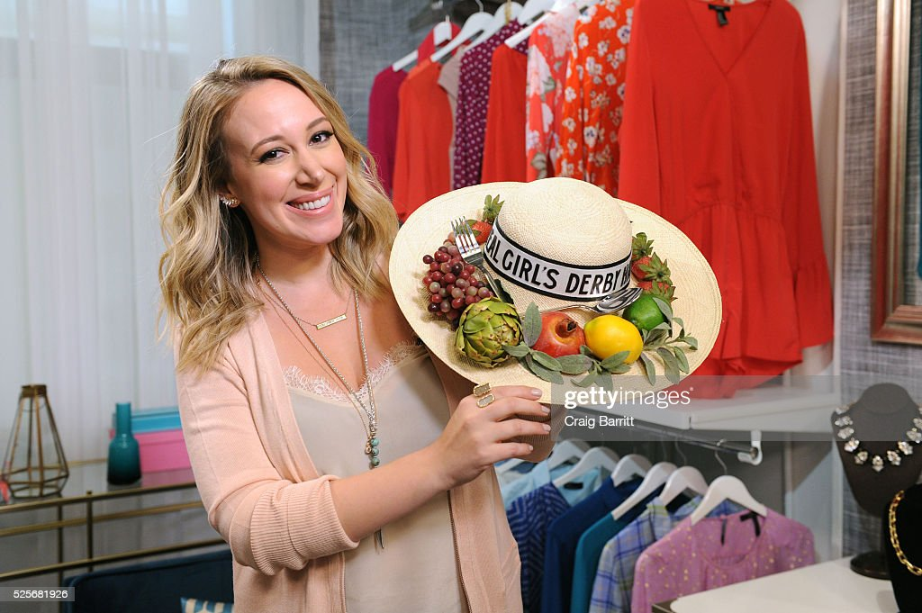 Haylie Duff appears on Amazon's Style Code Live on April 28, 2016 in New York City.