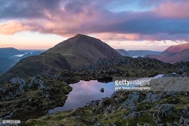 Haystacks sunet, Lake District mountains