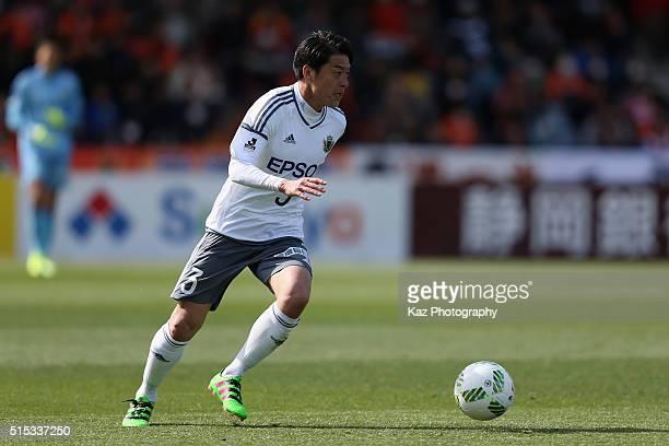 Hayuma Tanaka of Matsumoto Yamaga in action during the JLeague second division match between Shimizu SPulse and Matsumoto Yamaga at the IAI Stadium...