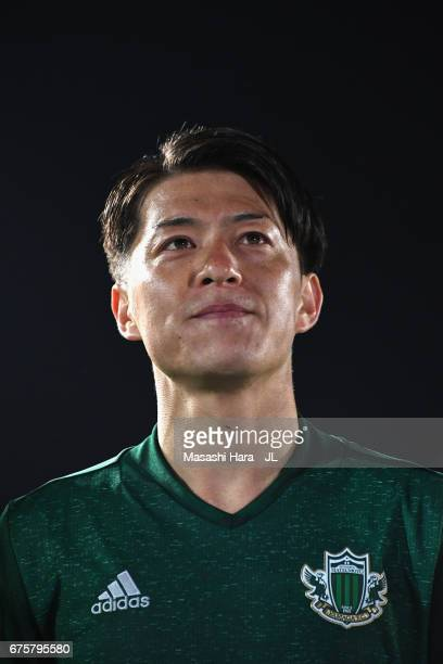 Hayuma Tanaka of Matsumoto Yamaga looks on after the JLeague J2 match between Matsumoto Yamaga and Kamatamare Sanuki at Matsumotodaira Park Stadium...