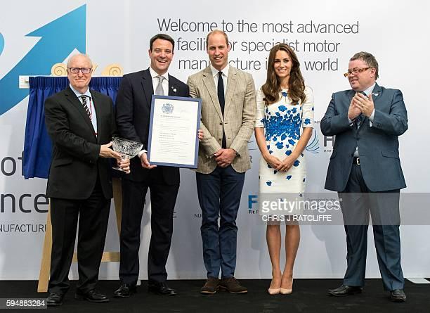 Hayward Tyler Chairman John May CEO Ewan LloydBaker Britain's Prince William Duke of Cambridge Catherine Duchess of Cambridge John Green General...