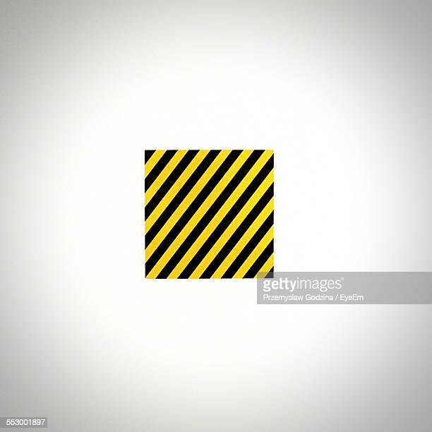 Hazard Sign Against White Background