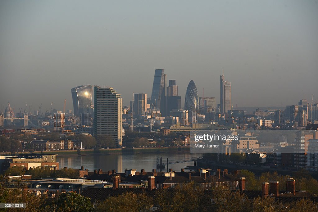 A haze of air pollution covers the London skyline in the early hours of the morning as London goes to the polls in its Mayoral elections, with all the major candidates campaigning heavily on the enviromental issue, on May 5, 2016 in London, England. Three quarters of Londoners are said to believe that air pollution is a major factor and responsibility for the capital city's incoming mayor to deal with. The main candidates for the position in 2016 are Sadiq Khan, Labour, Zac Goldsmith , Conservative, Sian Berry, Green, Caroline Pidgeon, Liberal Democrat, George Galloway, Respect, Peter Whittle, UKIP and Sophie Walker, Woman's Equality Party. Results will be declared on Friday 6th May.