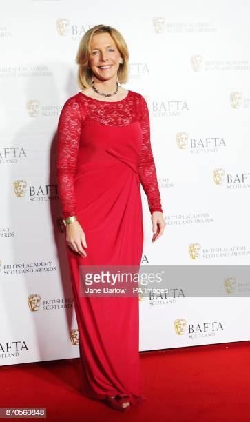 Hazel Irvine arriving at the British Academy Scottish Awards at the Radisson Blu Hotel in Glasgow