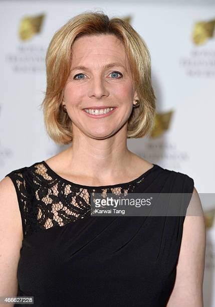 Hazel Irvine attends the RTS Programme Awards at The Grosvenor House Hotel on March 17 2015 in London England