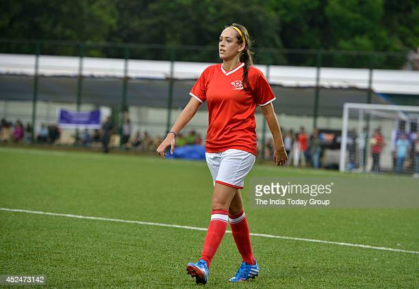 Hazel Keech during a celebrity football match oraganised by Aamir Khans daughter Ira in Mumbai