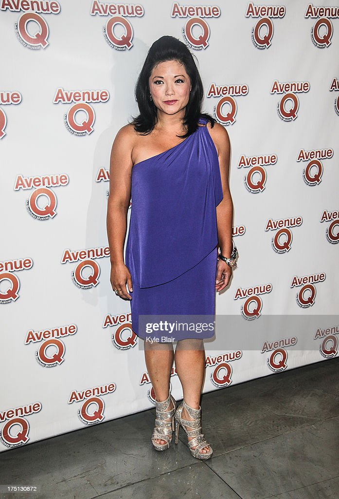 Hazel Raymundo attends the 'Avenue Q' 10th year anniversary performance at New World Stages on July 31, 2013 in New York City.