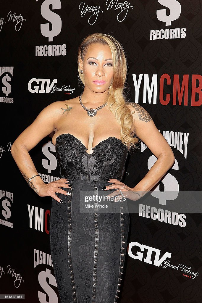 Hazel-Earrives at the Cash Money Records 4th annual pre-GRAMMY Awards party on February 9, 2013 in West Hollywood, California.