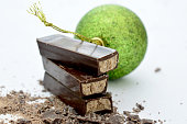 hazelnut cream filled chocolate, image of a