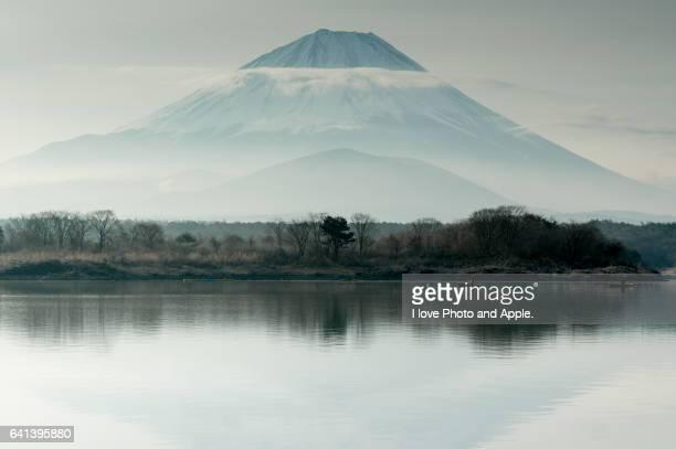 Hazy Fuji at Lake Shoji