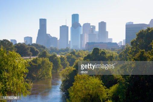 Nebbia sullo Skyline di Houston al mattino