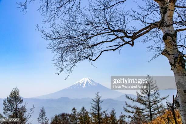 Hazy of spring Fuji
