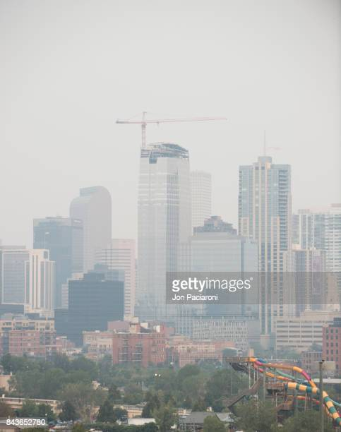Hazy View of the Downtown Denver Skyline