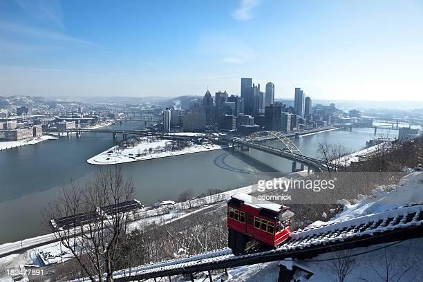 Hazy Winter Morning In Pittsburgh, Pennsylvania